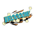 vroom comic word vector image vector image