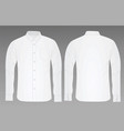 white shirt long sleeve vector image
