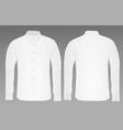 white shirt long sleeve vector image vector image