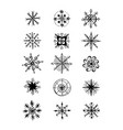 winter snowflakes doodles vector image vector image