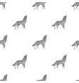 wolf triangle seamless pattern backgrounds vector image vector image