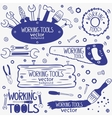 working tools set vector image vector image