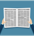 business news newspaper in hands vector image