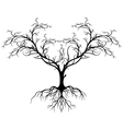 tree silhouette without leaf vector image