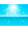 blue sea abstract background vector image