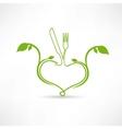 natural food icon vector image