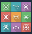 set of aerial drone footage emblems vector image