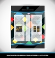 Abstract pattern brochure design layout template vector image