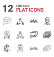 12 talking icons vector image vector image