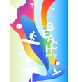 Abstract creative colorful party flyer vector image vector image