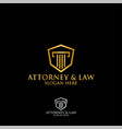 abstract table hexagon attorney law logo template vector image vector image
