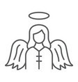 Angel thin line icon religion and heaven