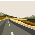 background empty highways in the highlands vector image vector image