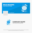 blue business logo template for connectivity vector image vector image