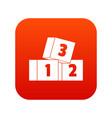 bricks icon digital red vector image