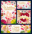 bridal ceremony save date wedding day symbol vector image