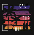california t-shirt typography with color gradient vector image vector image