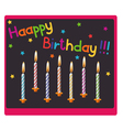 candles on birthday vector image