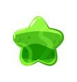 candy honey star jelly icon cartoon shiny vector image