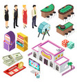 casino isometric set vector image