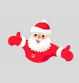 christmas drawing of a silhouette of a santa claus vector image vector image