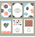 Collection of hand drawn creative journaling cards vector image vector image