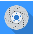 Colorful brake disc icon in modern flat style with vector image vector image