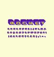 decorative sans serif extra bulk font vector image vector image