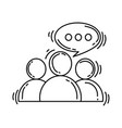 ecommerce discussion icon hand drawn icon set vector image vector image