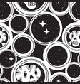 endless background with sugar skulls and night sky vector image vector image