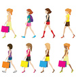 Faceless girls vector image vector image