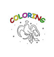 firebird hand drawing coloring page modern doodle vector image vector image
