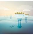 Futuristic eco friendly city vector image