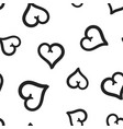 hand drawn hearts icon seamless pattern vector image vector image