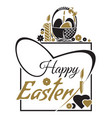 happy easter easter lettering typographic design vector image vector image