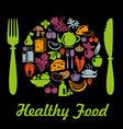 HealthyPlate vector image vector image