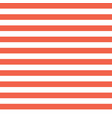 horizontal red and white stripes seamless vector image