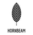 hornbeam leaf icon simple black style vector image