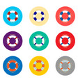 icon for set symbols sea lifebuoy vector image vector image