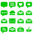 internet icons set - website green buttons vector image vector image