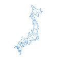 isolated map of japan vector image vector image