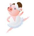 lovely dancing piglet in a ballet tutu vector image vector image