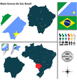 Map of Mato Grosso do Sul vector image vector image