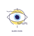 Modern thin line icons of blurry vision vector image