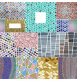 mosaic decoration frames patchwork traditional vector image