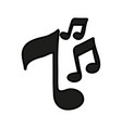 music note semi quaver icon image vector image vector image