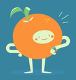 Orange Character Looking at a Watch vector image vector image