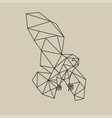 origami polygonal line style flying owl vector image