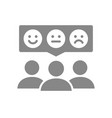 people with emotions in chat bubble grey icon vector image
