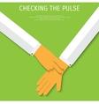 pulse test medical flat background vector image